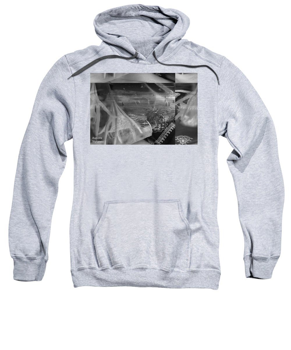 Augusta Stylianou Sweatshirt featuring the digital art Black And White Moments by Augusta Stylianou