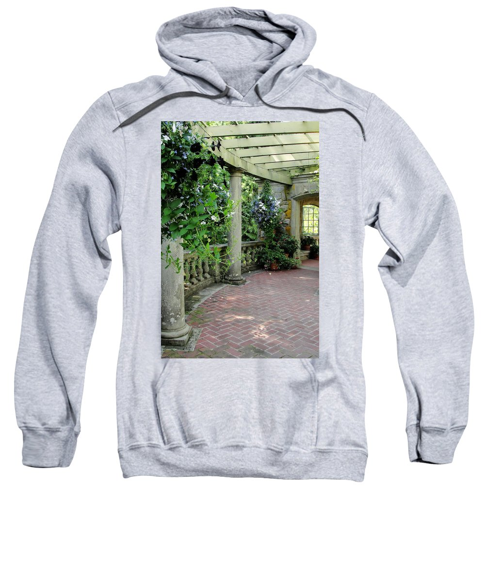 Pillars Sweatshirt featuring the photograph Black Petunias by Natalie Ortiz
