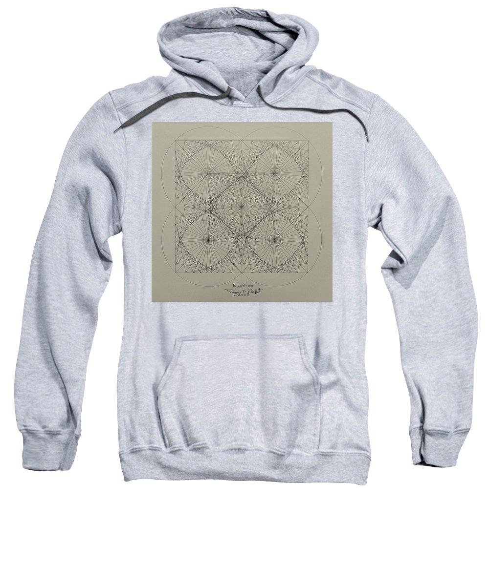 Fractals Sweatshirt featuring the drawing Blackhole by Jason Padgett