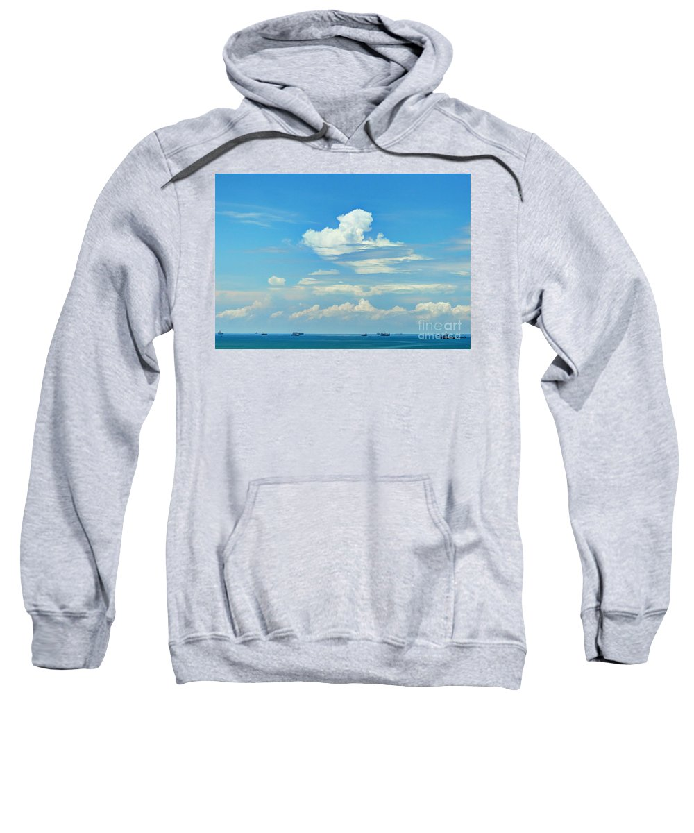 Panama Sweatshirt featuring the photograph Blue A Sailors Delight by Bob Hislop