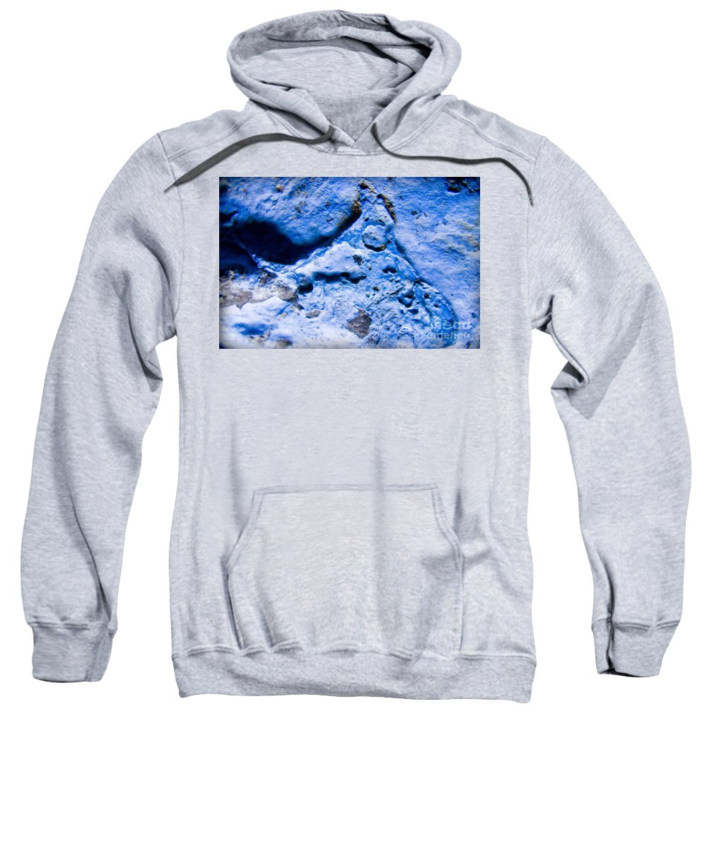 Rock Sweatshirt featuring the photograph Blue Abstract 2 by Andrea Goodrich