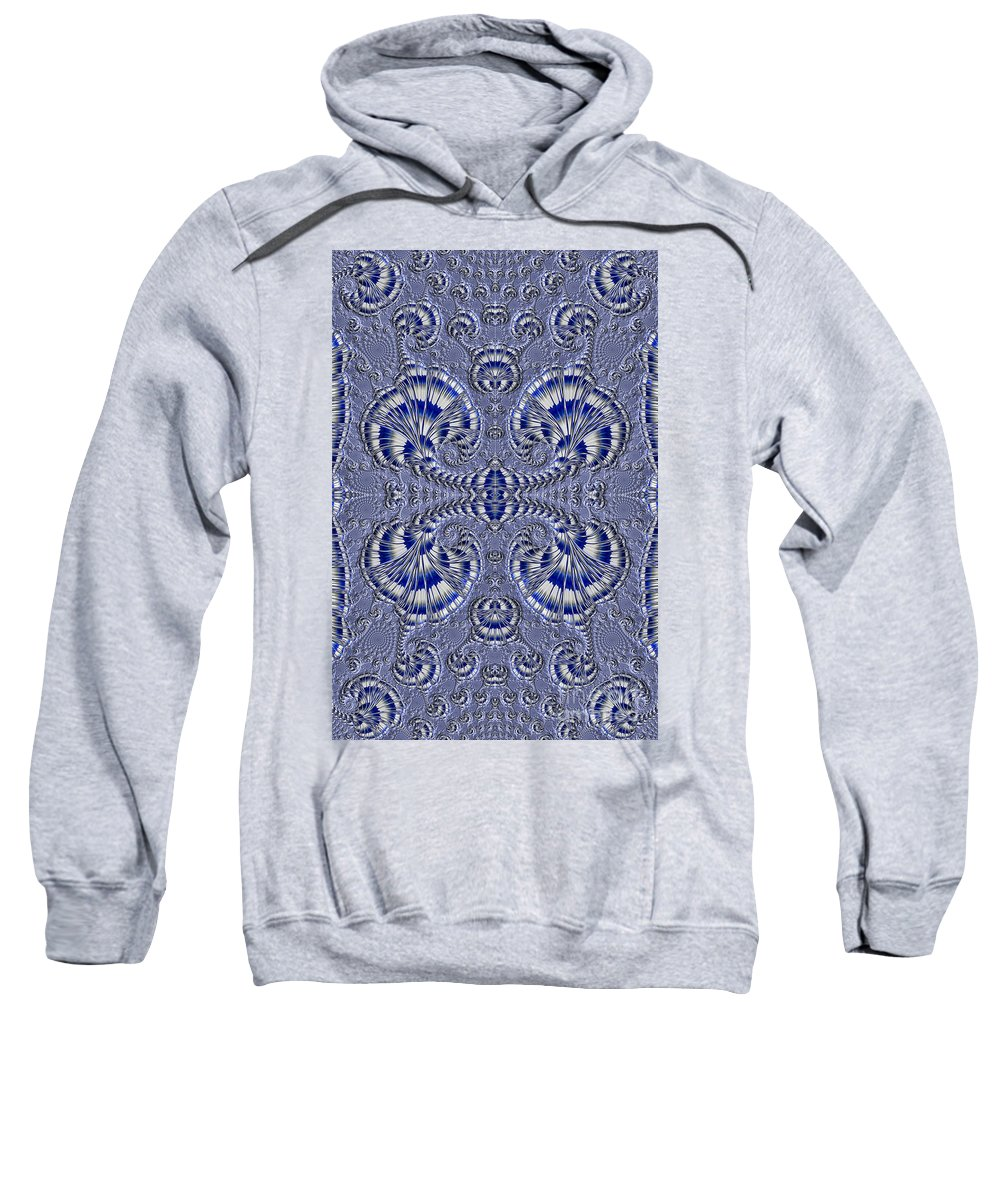 Fractal Sweatshirt featuring the photograph Blue And Silver 3 by Steve Purnell