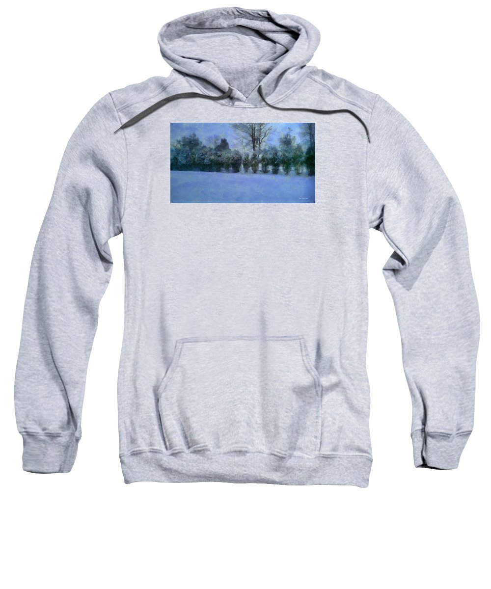 Landscape Sweatshirt featuring the painting Blue Dawn by RC DeWinter