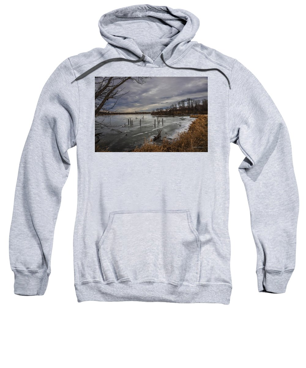 Standing Bear Lake Sweatshirt featuring the photograph Blue Day by Edward Peterson