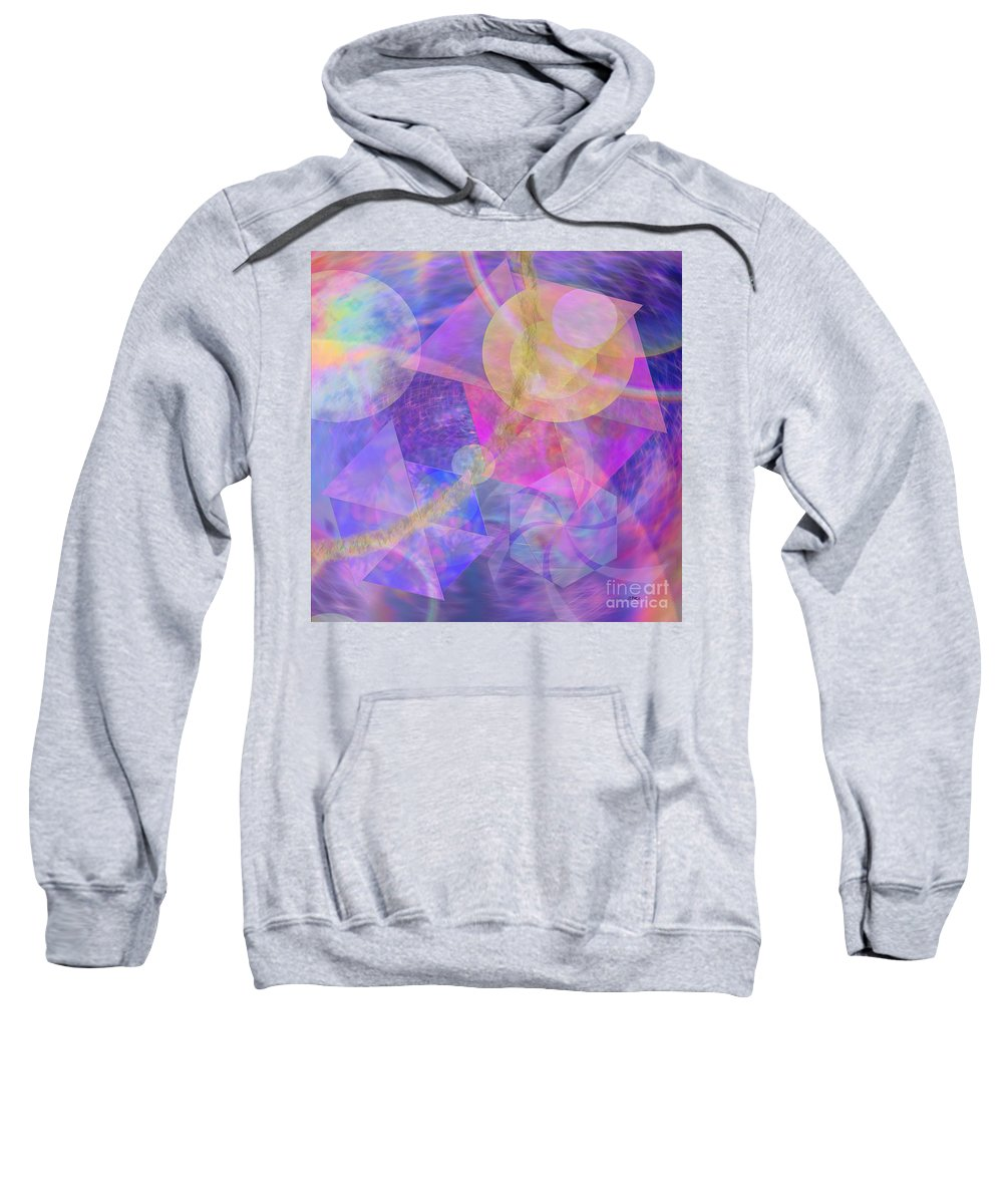 Blue Expectations Sweatshirt featuring the digital art Blue Expectations - Square Version by John Beck