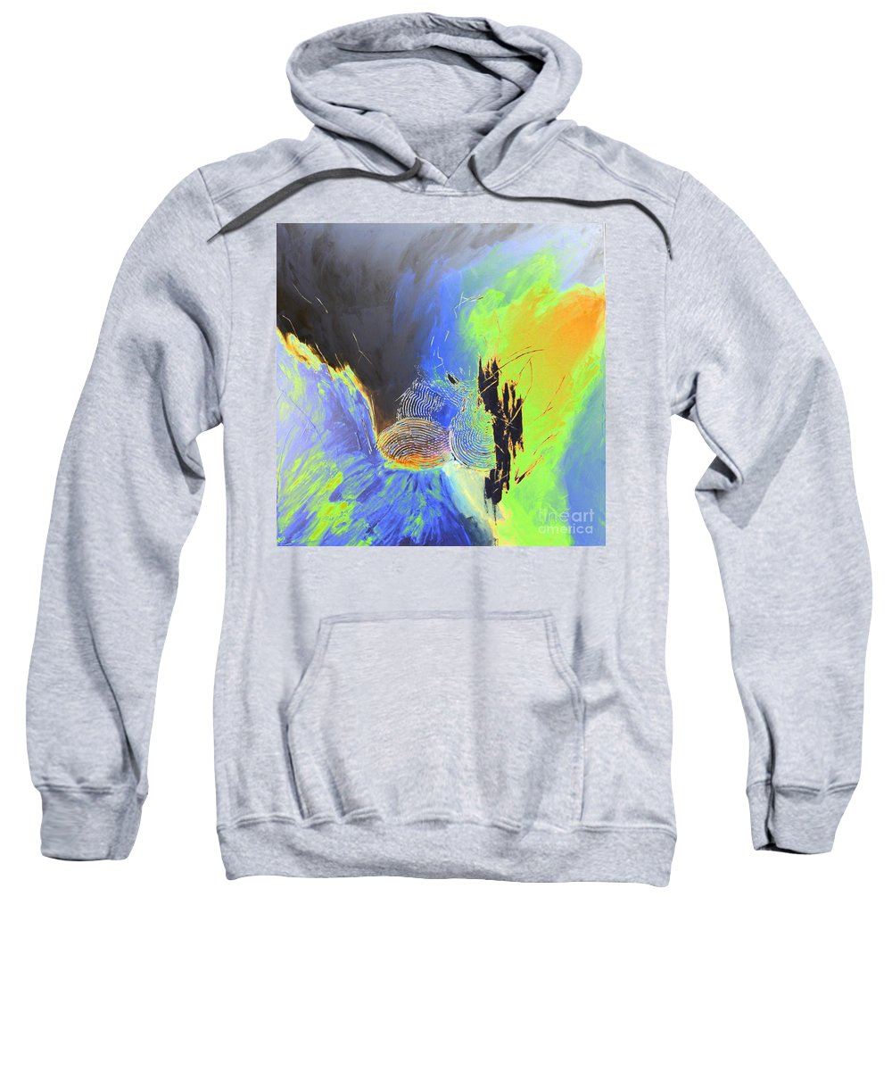 Painting Sweatshirt featuring the painting Blue Mars by Christiane Schulze Art And Photography