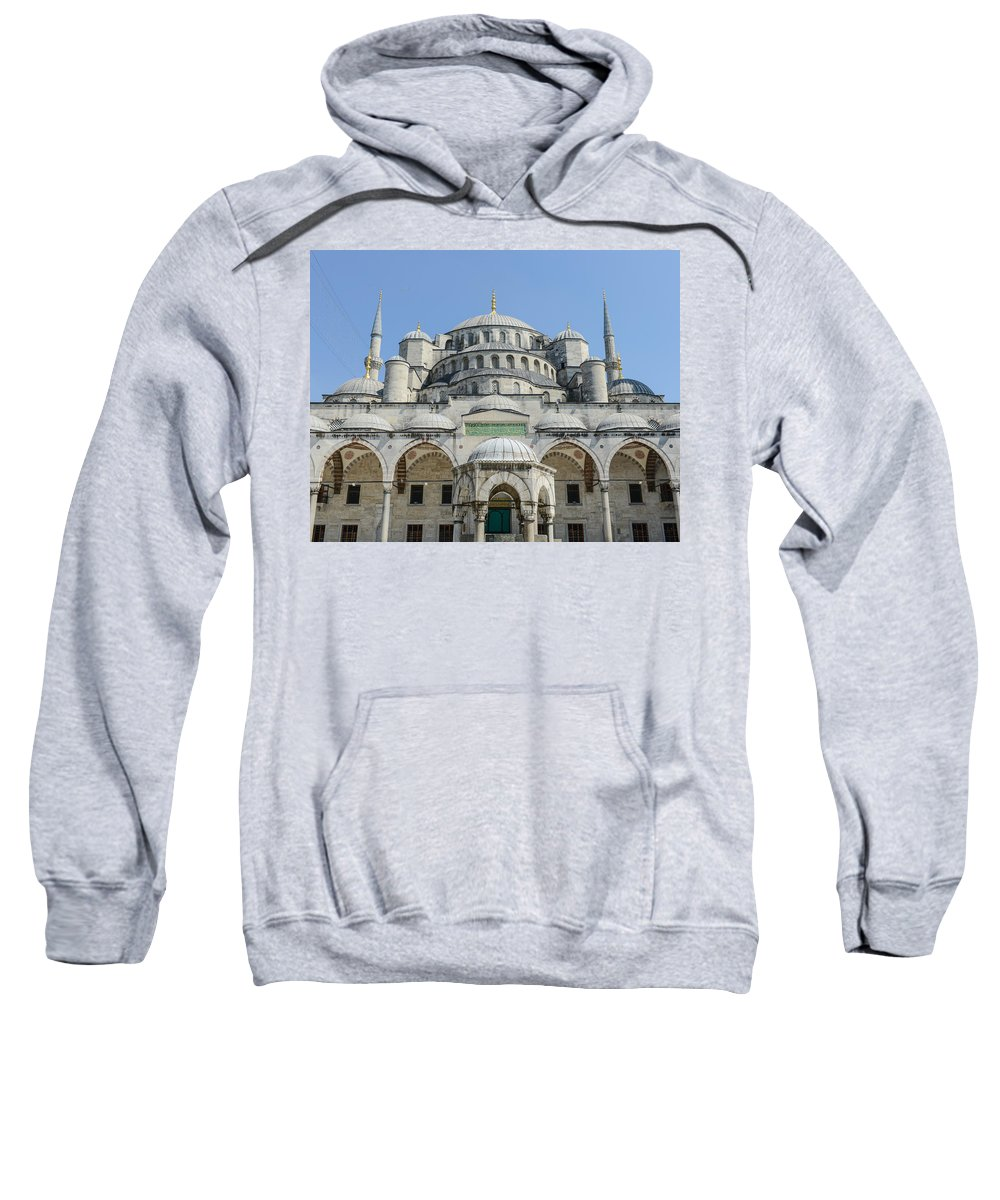 Ancient Sweatshirt featuring the photograph Blue Mosque In Istanbul Turkey by Brandon Bourdages