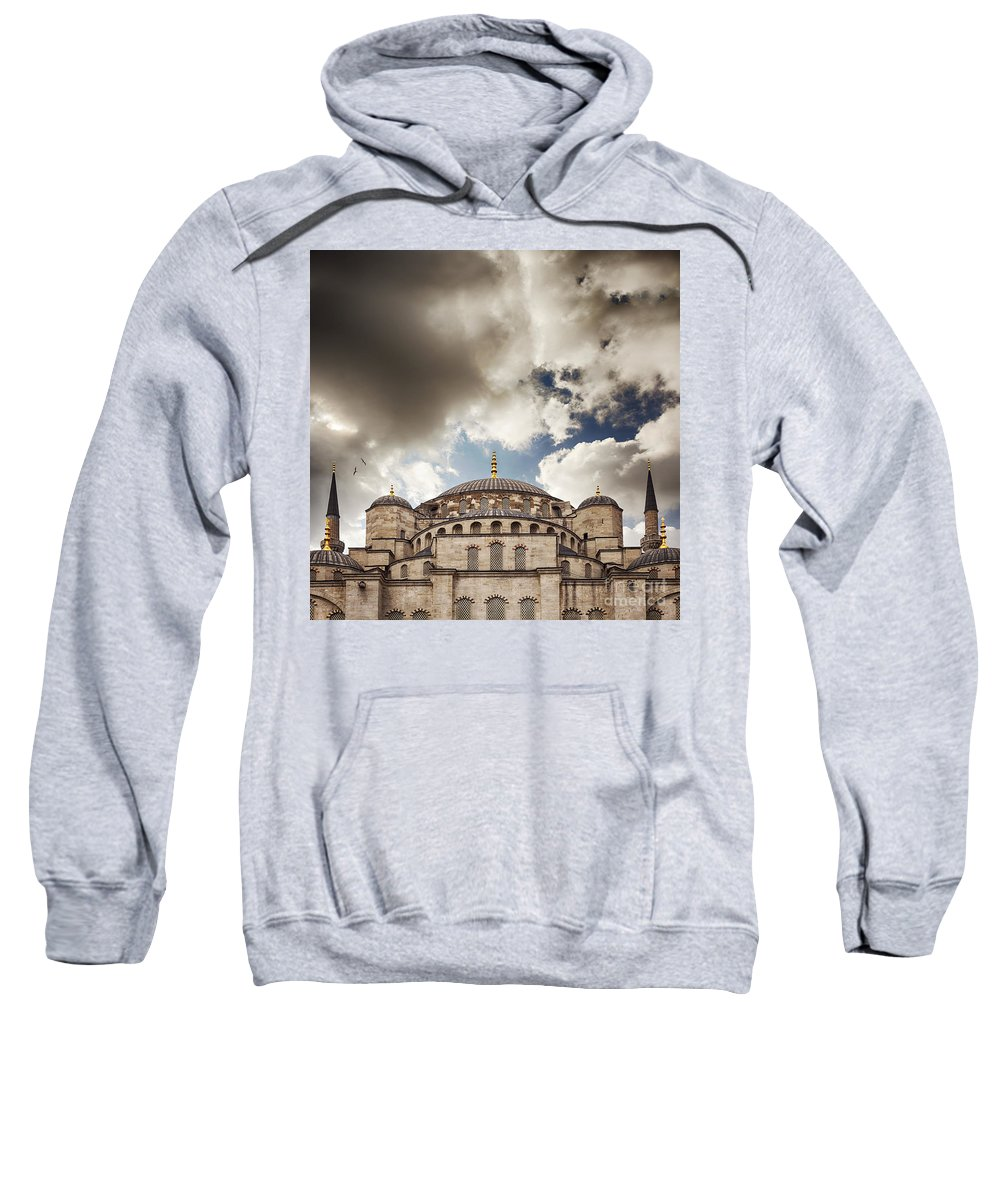 Dramatic Sweatshirt featuring the photograph Blue Mosque Istanbul by Sophie McAulay