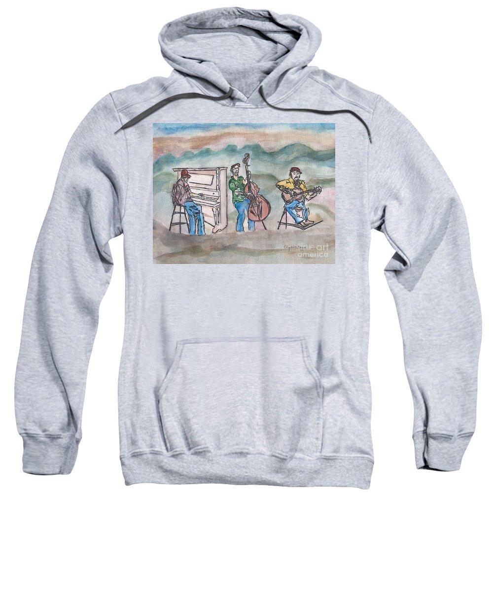Blue Sweatshirt featuring the painting Blue Ridge Tradition  by Elizabeth Briggs