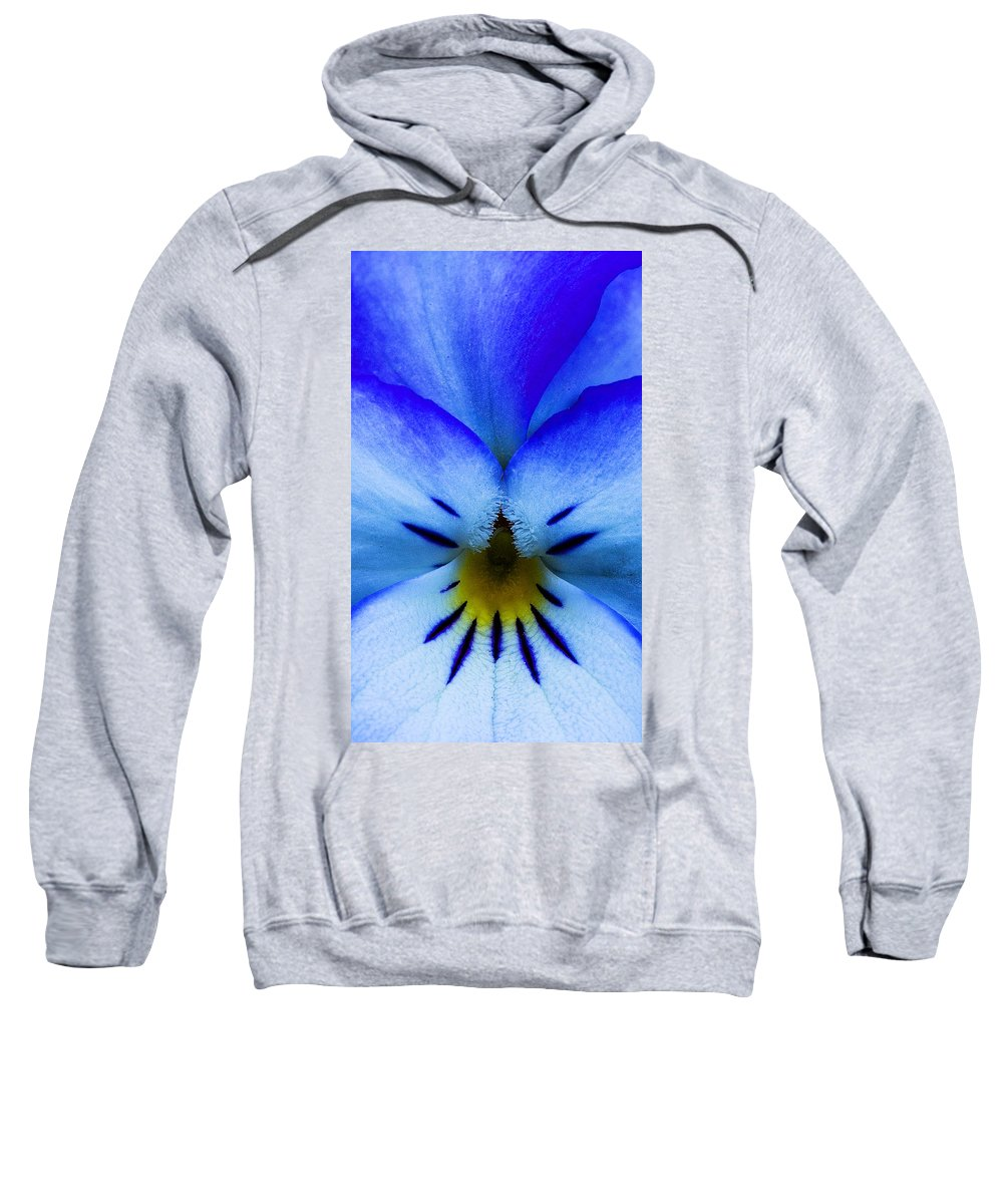 Flower Sweatshirt featuring the photograph Blue by Robert Woodward