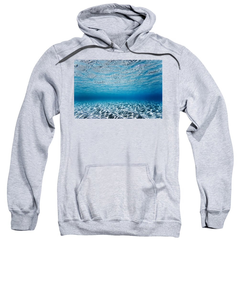 Nature Sweatshirt featuring the photograph Blue Sea by Sean Davey
