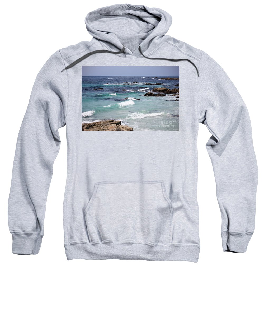 Blue Surf Sweatshirt featuring the photograph Blue Surf by Carol Groenen