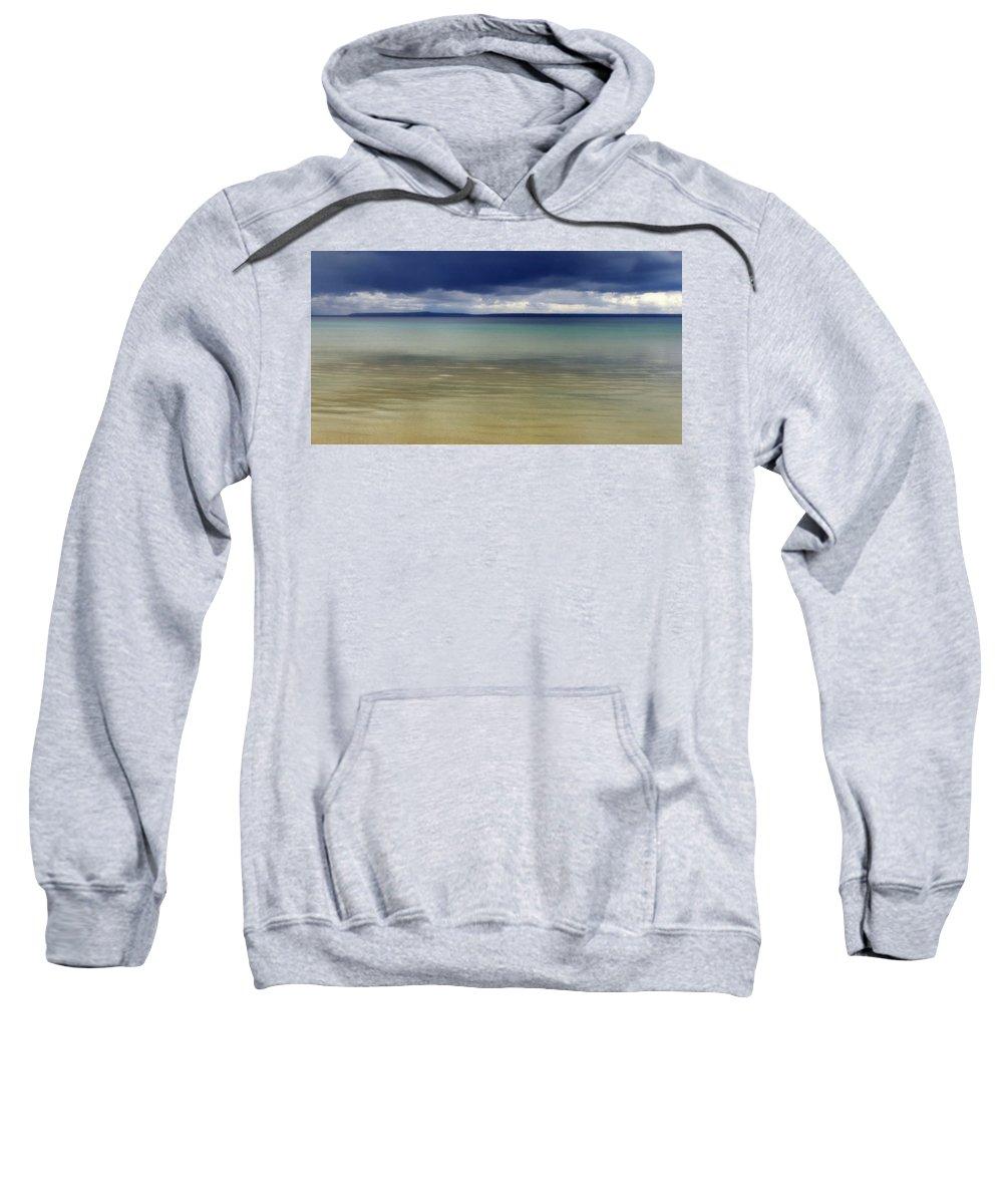 Mackinac Island Sweatshirt featuring the photograph Beautiful Blues Over Mackinac Island by Marysue Ryan
