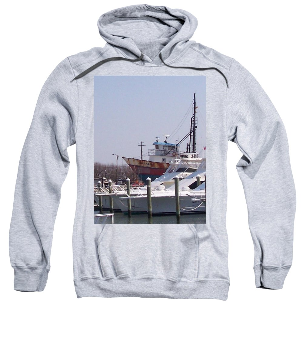Boat Sweatshirt featuring the photograph Boats Docked by Pharris Art