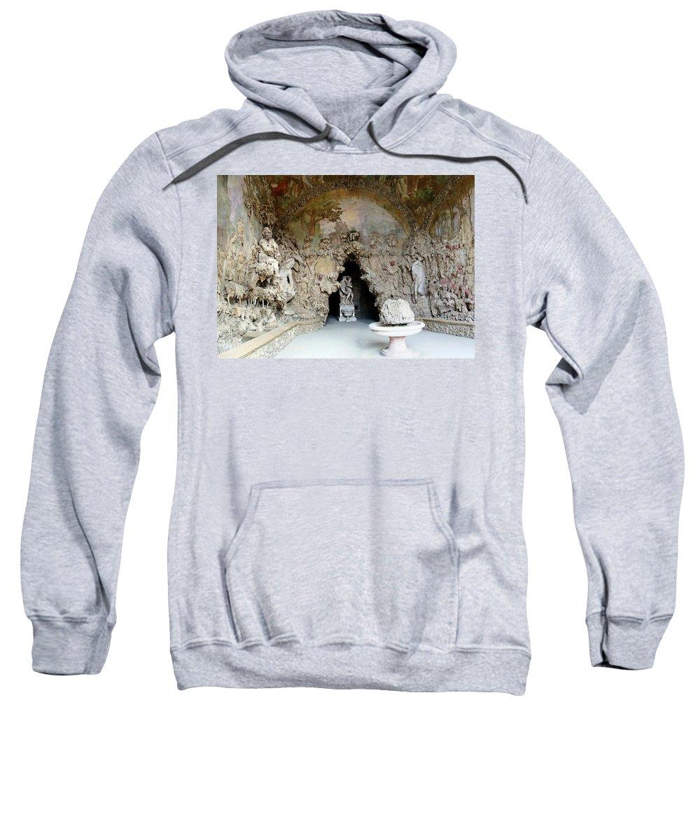 Boboli La Grotto Grande Sweatshirt featuring the photograph Boboli La Grotta Grande 3 by Ellen Henneke