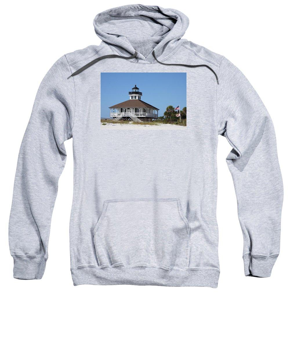 Port Boca Grande Lighthouse Sweatshirt featuring the photograph Boca Grande Light by Christiane Schulze Art And Photography
