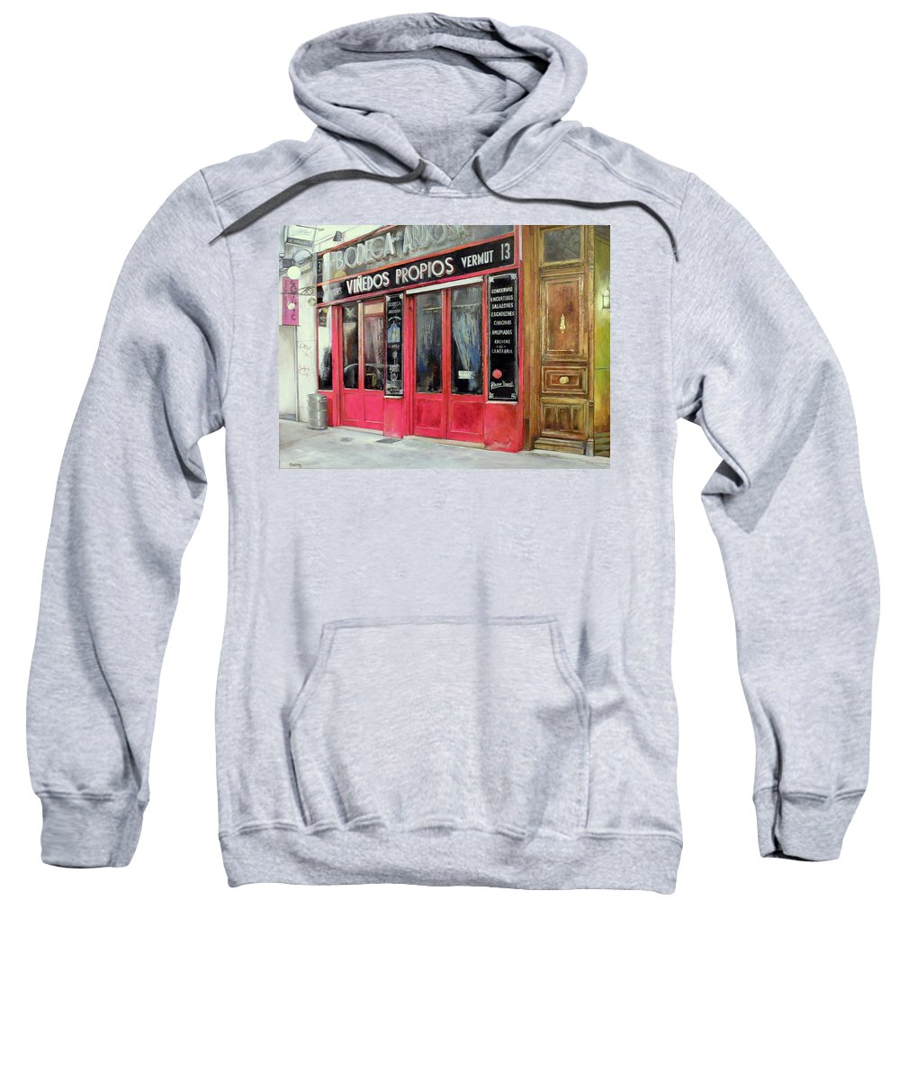 Bodega Sweatshirt featuring the painting Bodega Ardosa by Tomas Castano