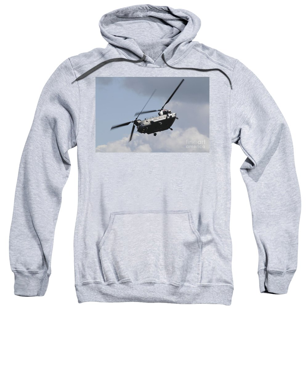 Chinook Sweatshirt featuring the photograph Boeing Chinook by J Biggadike