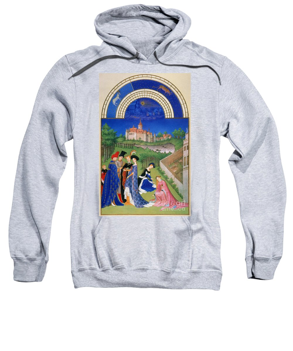 15th Century Sweatshirt featuring the photograph Book Of Hours: April by Granger
