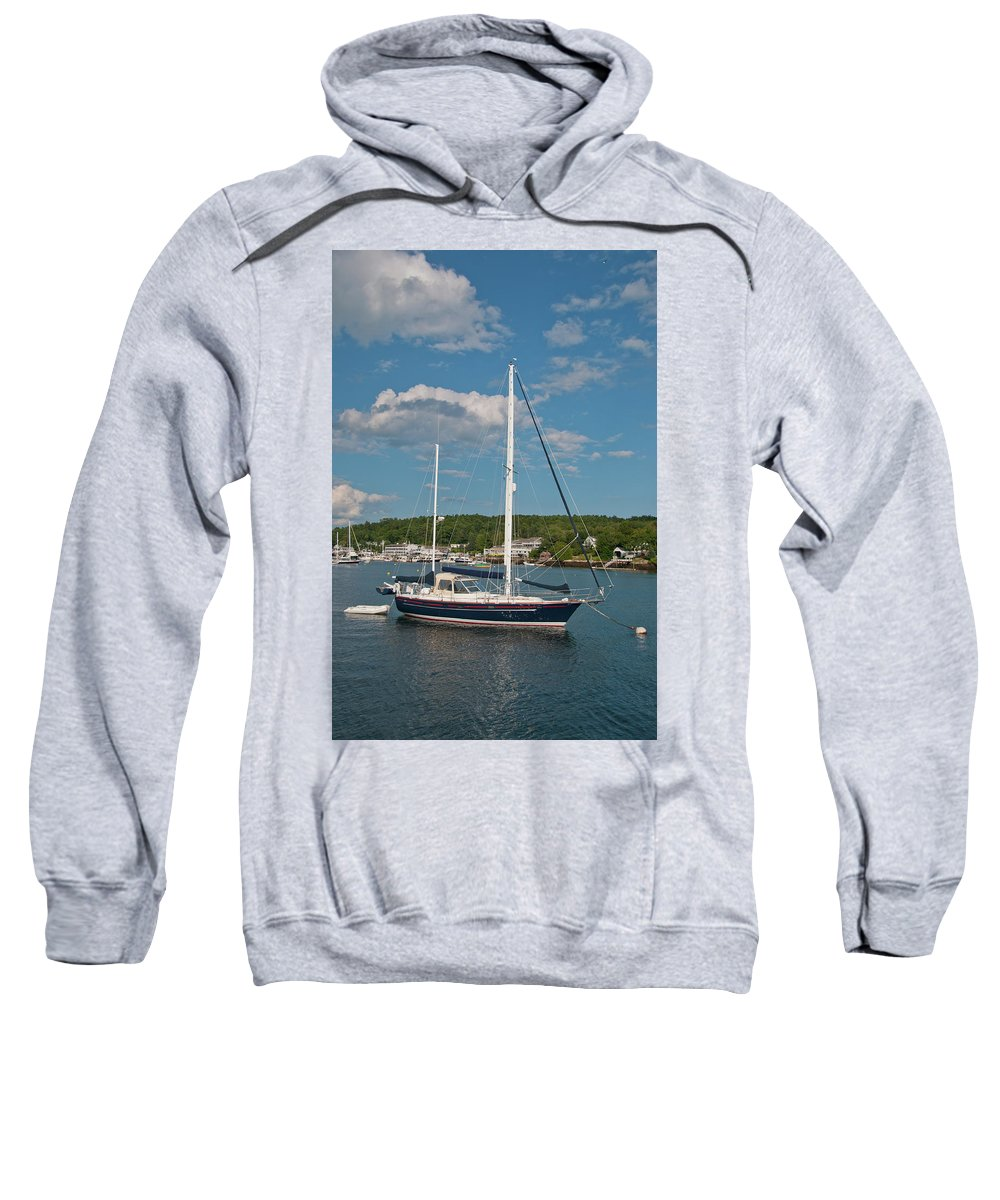 Boat Sweatshirt featuring the photograph Boothbay Harbor 1390 by Guy Whiteley