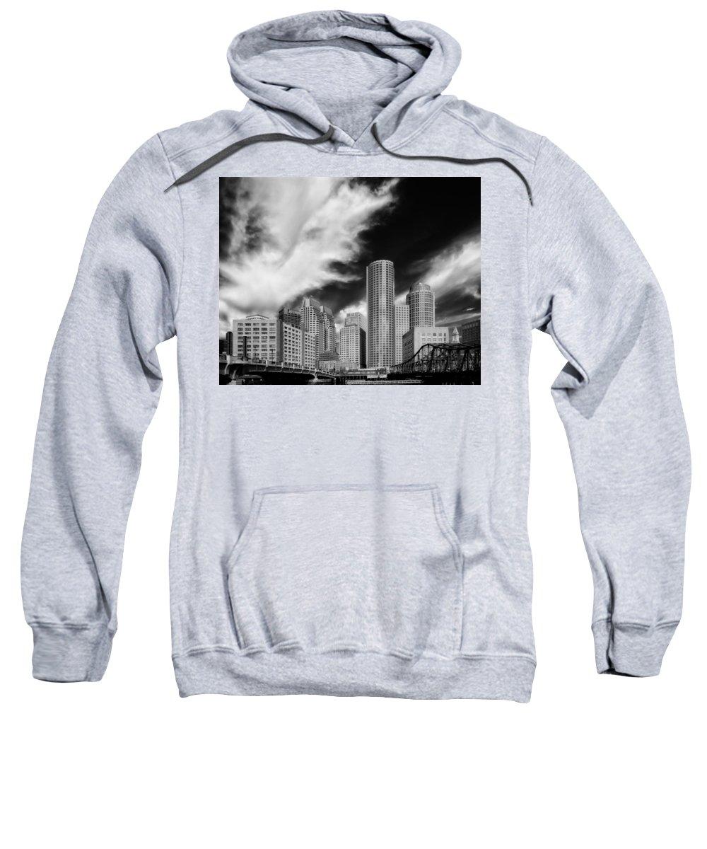 Boston Sweatshirt featuring the photograph Boston Skyline by Mountain Dreams