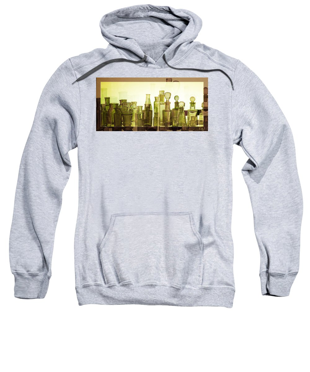 Bottles Sweatshirt featuring the photograph Bottled Light by Holly Kempe