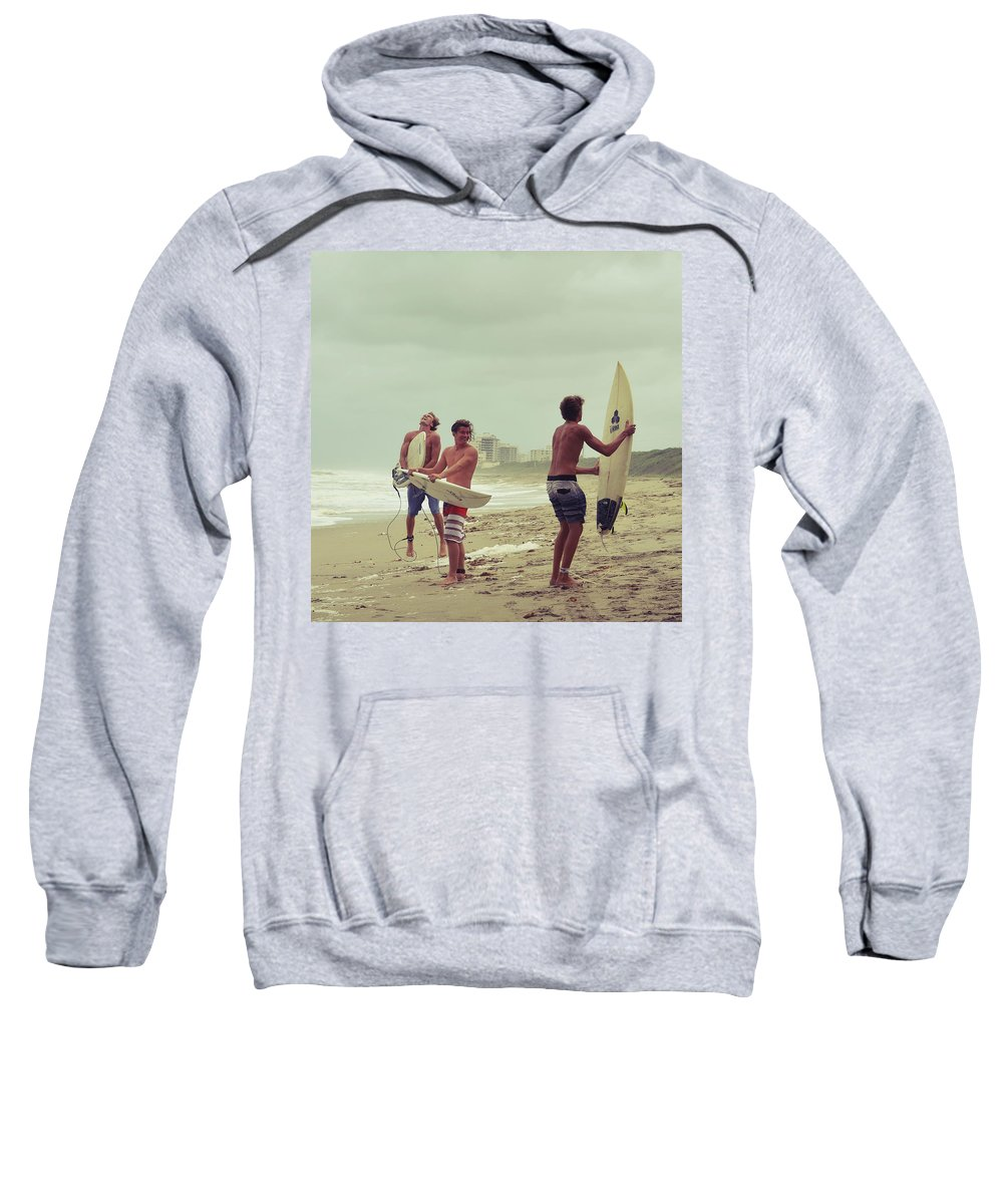 Surfer Sweatshirt featuring the photograph Boys Of Summer by Laura Fasulo