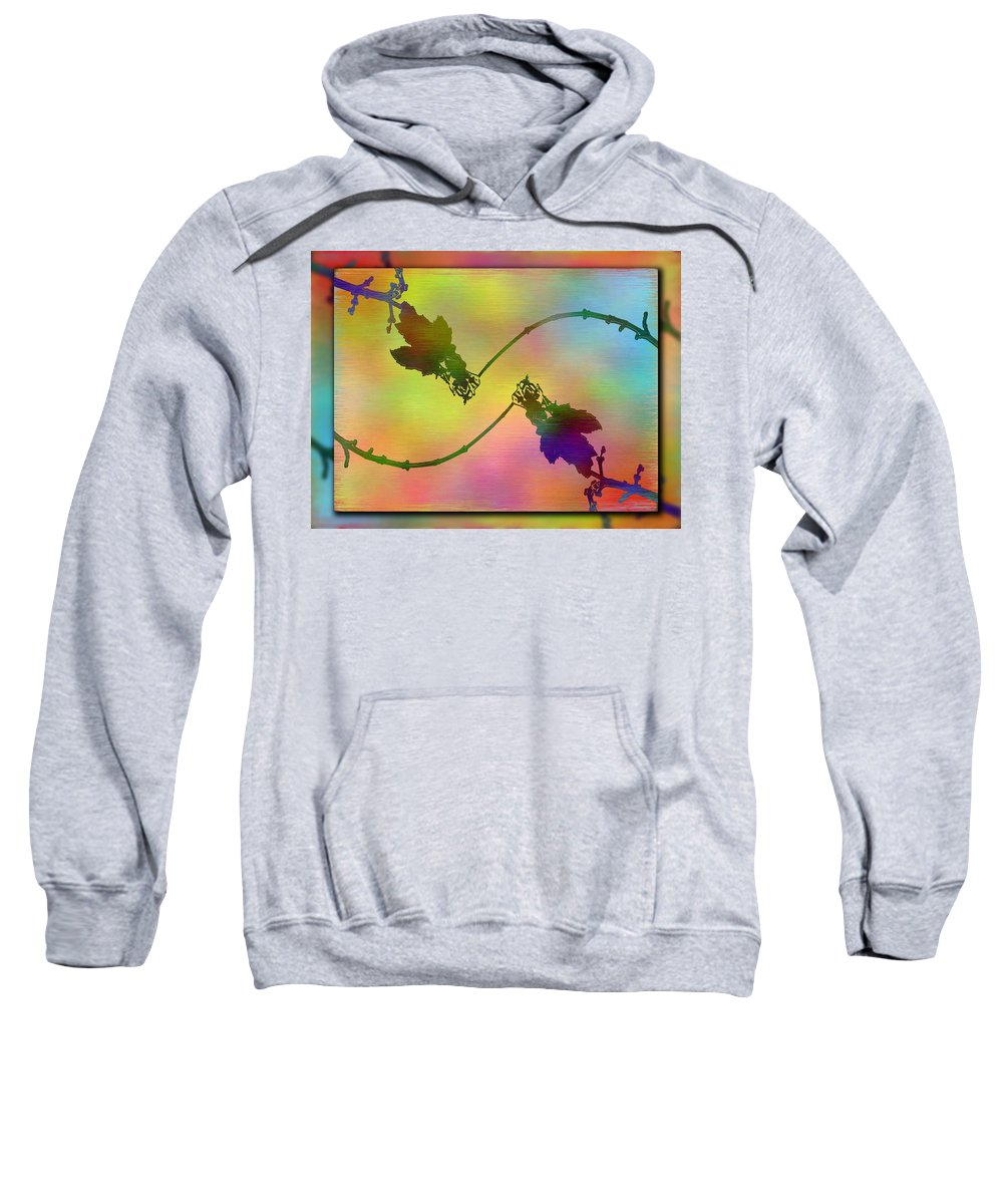 Abstract Sweatshirt featuring the digital art Branches In The Mist 44 by Tim Allen
