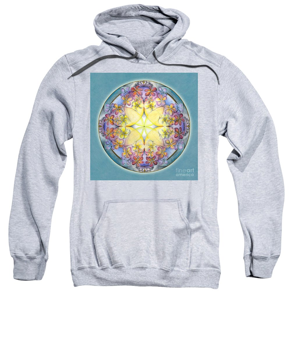 Mandala Art Sweatshirt featuring the painting Breath Of Life Mandala by Jo Thomas Blaine