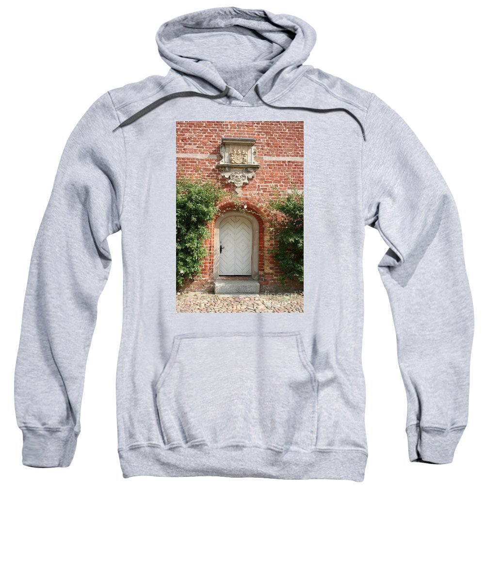 Brick Sweatshirt featuring the photograph Brickcastle And White Door by Christiane Schulze Art And Photography