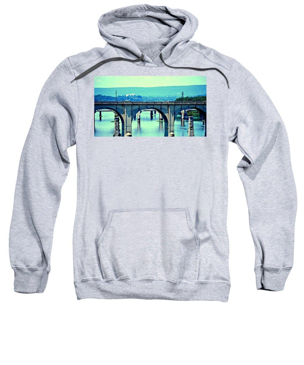 Bridge Sweatshirt featuring the photograph Bridge Of Arches by Tara Potts