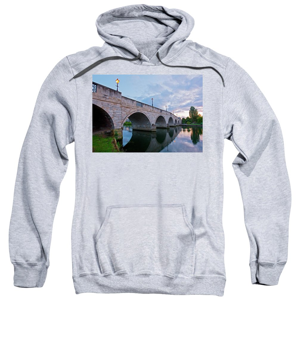 Arch Bridge Sweatshirt featuring the photograph Bridge Of The River Thames At Chertsey by Henn Photography