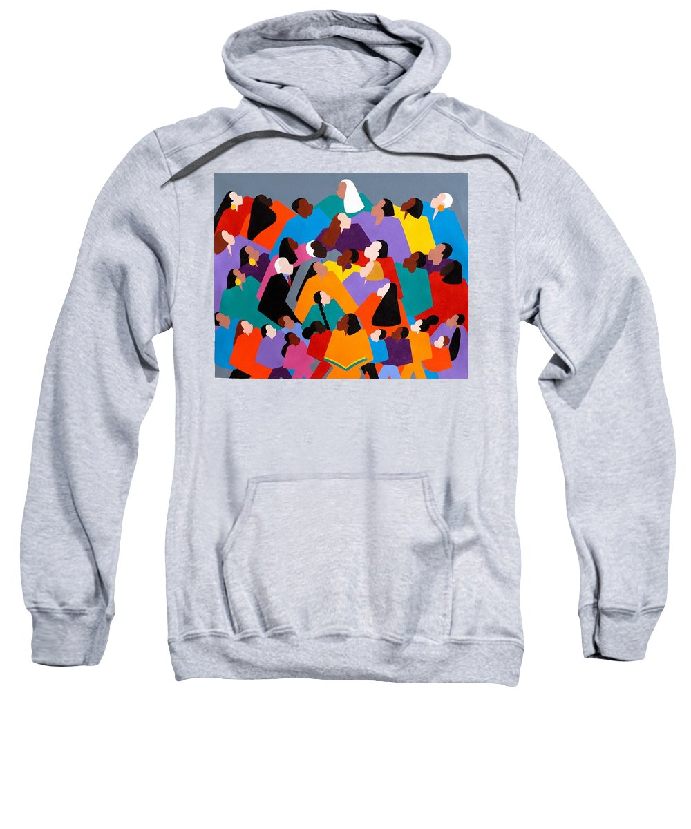 Figurative Sweatshirt featuring the painting Brilliance by Synthia SAINT JAMES