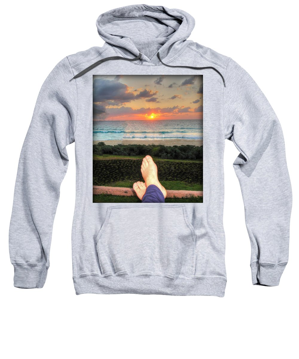 Sunset Sweatshirt featuring the photograph Bring On The Night by Kip Krause