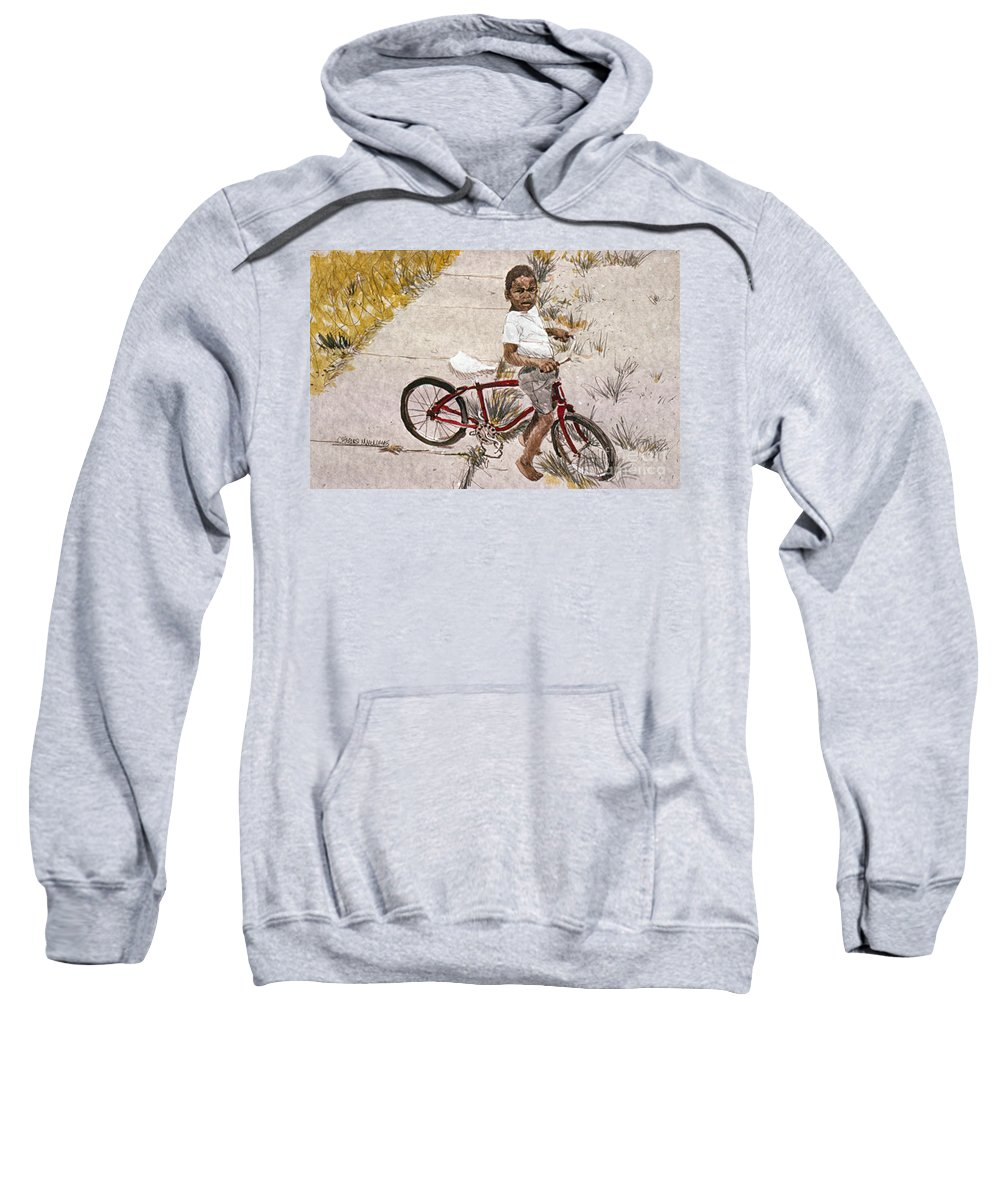 Child Sweatshirt featuring the painting Broken Chain by Charles M Williams