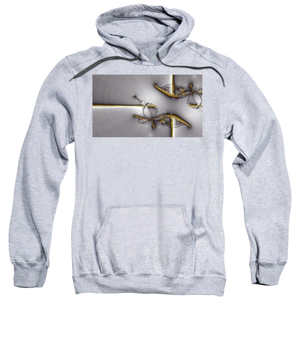 Sweatshirt featuring the digital art Broken Jewelry-fractal Art by Lourry Legarde