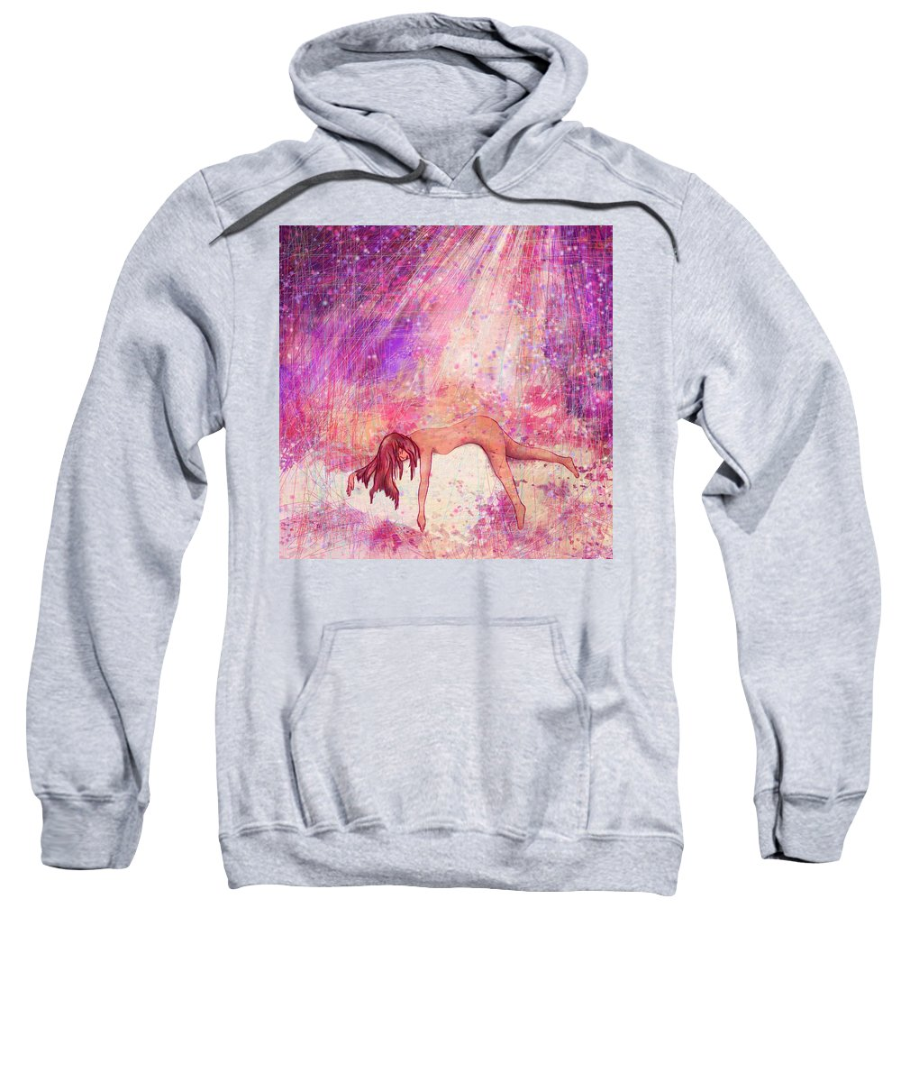 Abstract Sweatshirt featuring the digital art Broken by Rachel Christine Nowicki