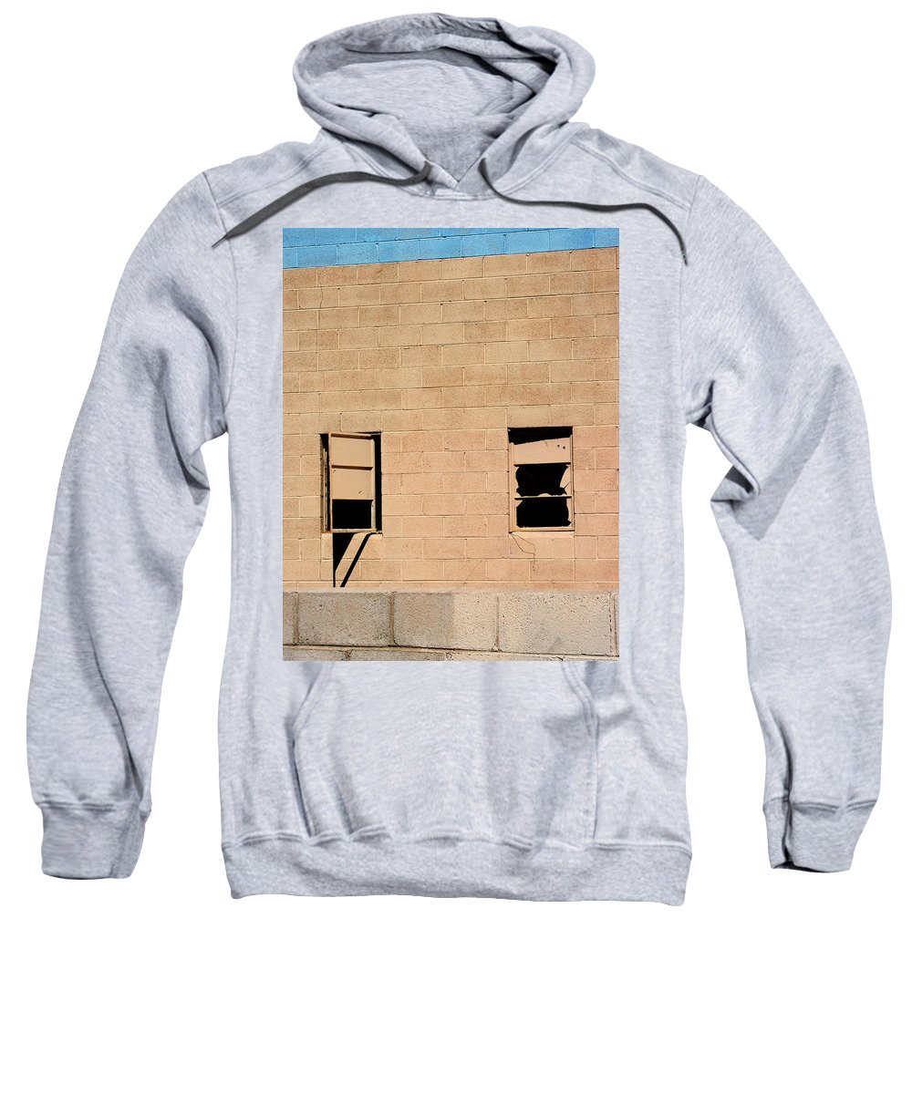 Industrial Desert Sweatshirt featuring the photograph Broken Windows by William Dey