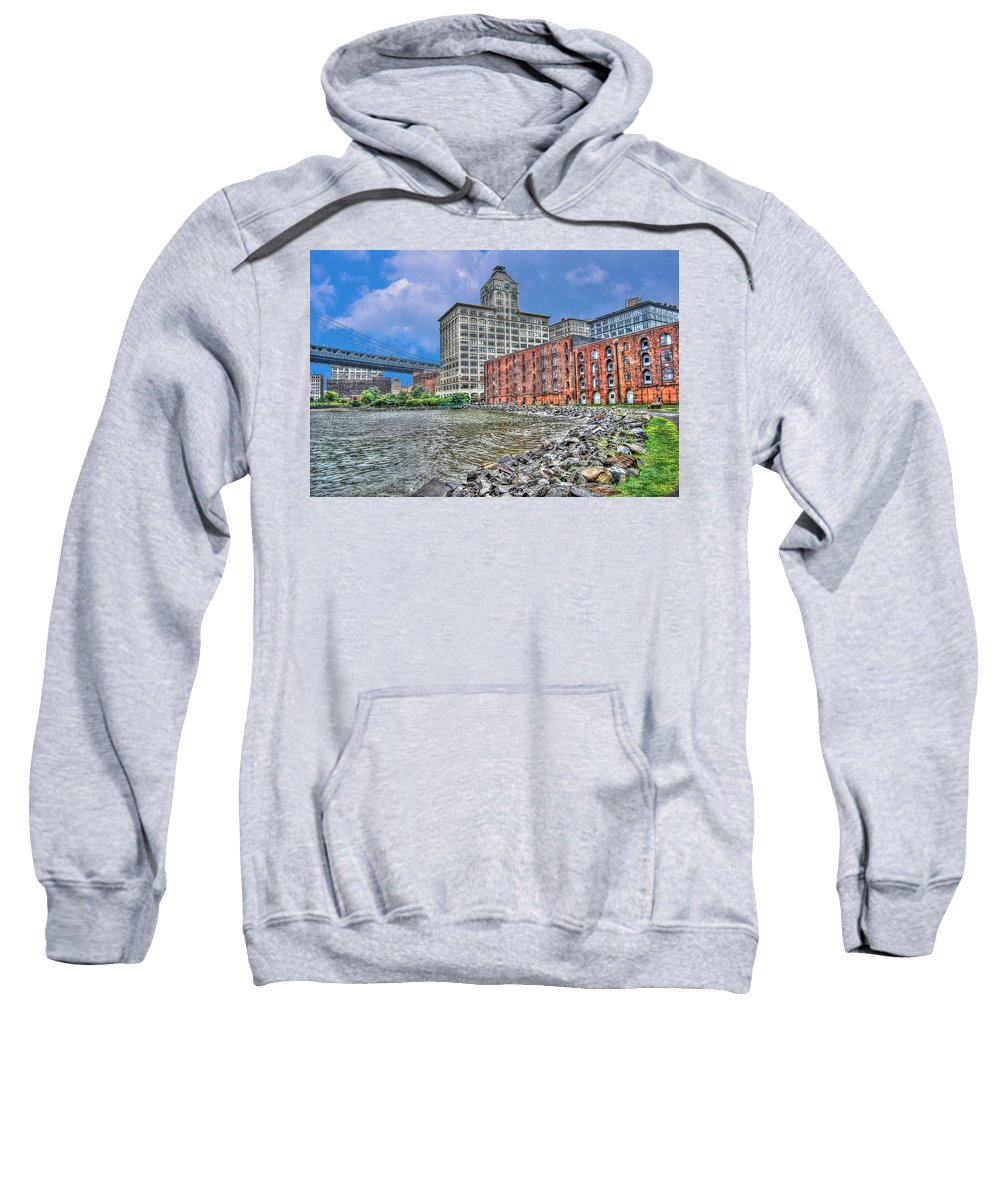 Brooklyn Sweatshirt featuring the photograph Brooklyn Old Tobacco Warehouse by Randy Aveille