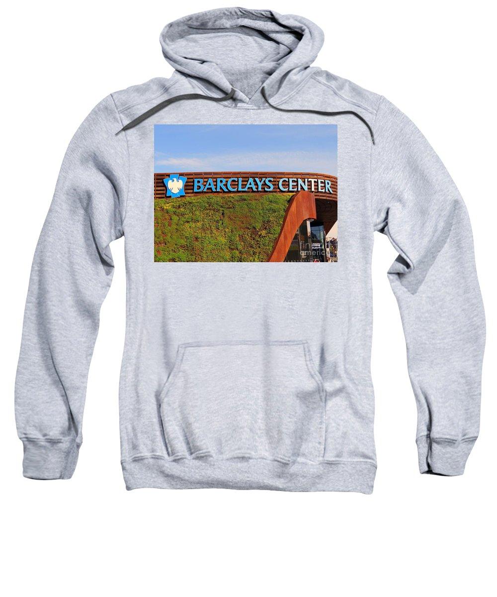 Grass Sweatshirt featuring the photograph Brooklyn's Barclays by Ed Weidman