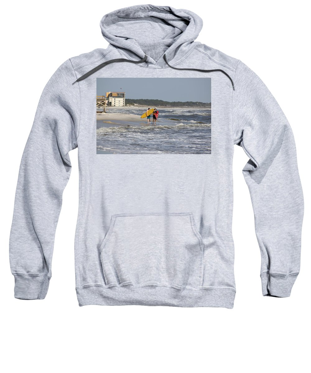 Beach Sweatshirt featuring the photograph Brothers by David Mayeau