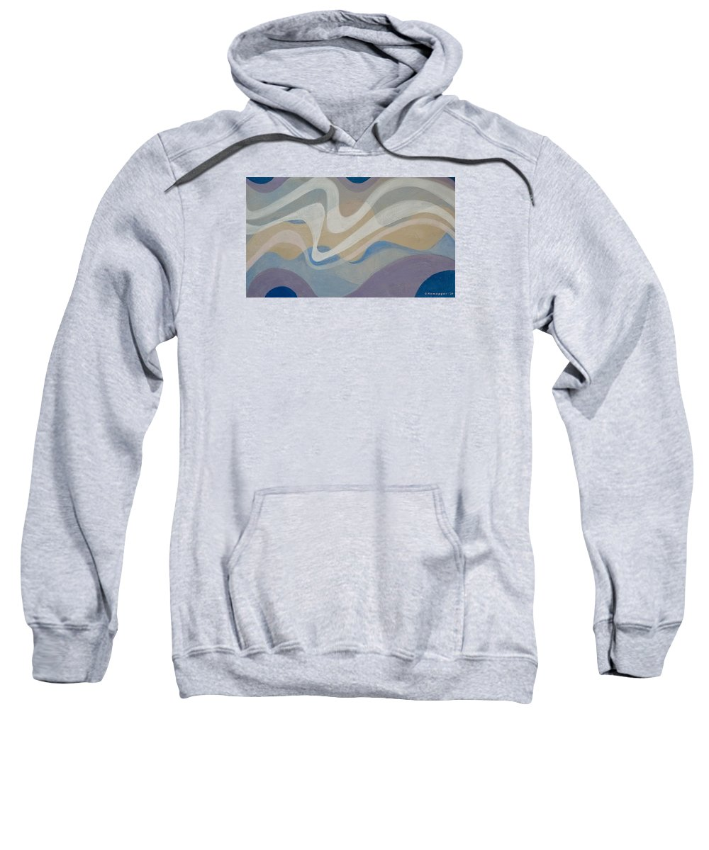 Breeze Sweatshirt featuring the painting Brrreeezzzeee by Hemu Aggarwal