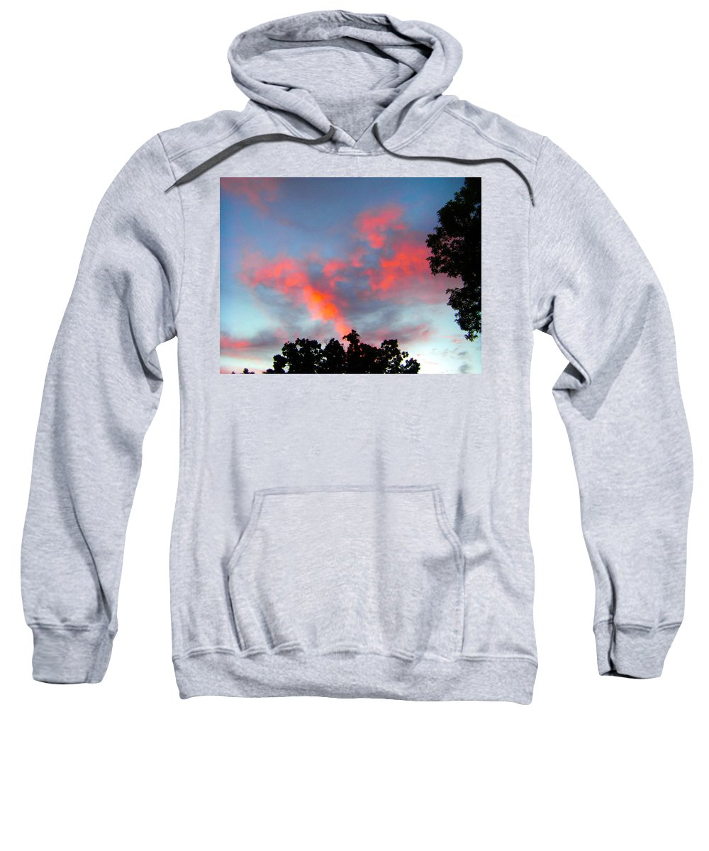 Sky Sweatshirt featuring the photograph Brush Strokes by Zafer Gurel
