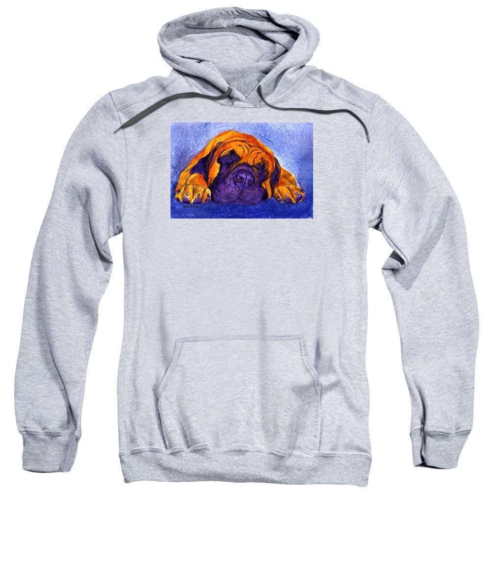 Mastiff Sweatshirt featuring the painting Brutus by Ann Ranlett