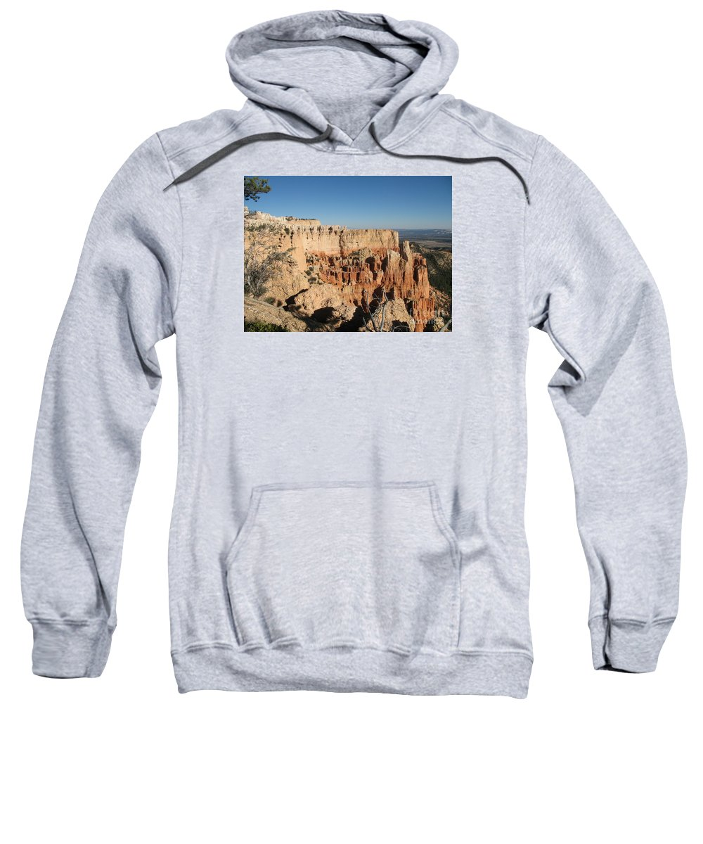 Rocks Sweatshirt featuring the photograph Bryce Canyon Scenic View by Christiane Schulze Art And Photography