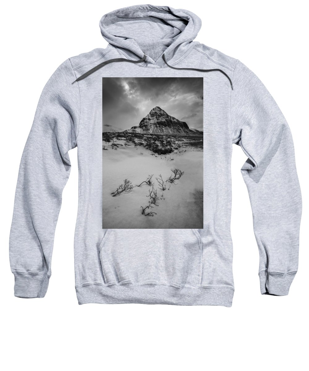 Glencoe Sweatshirt featuring the photograph Buachialle Etive Mor Glencoe Scotland by Nigel Forster