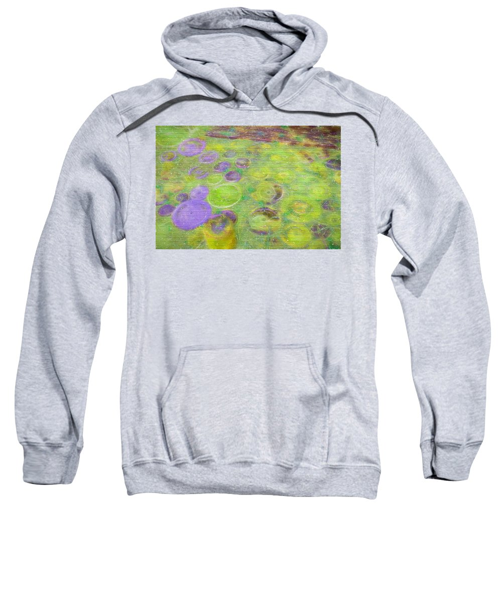 Bubbles Sweatshirt featuring the digital art Bubbles by Cathy Anderson