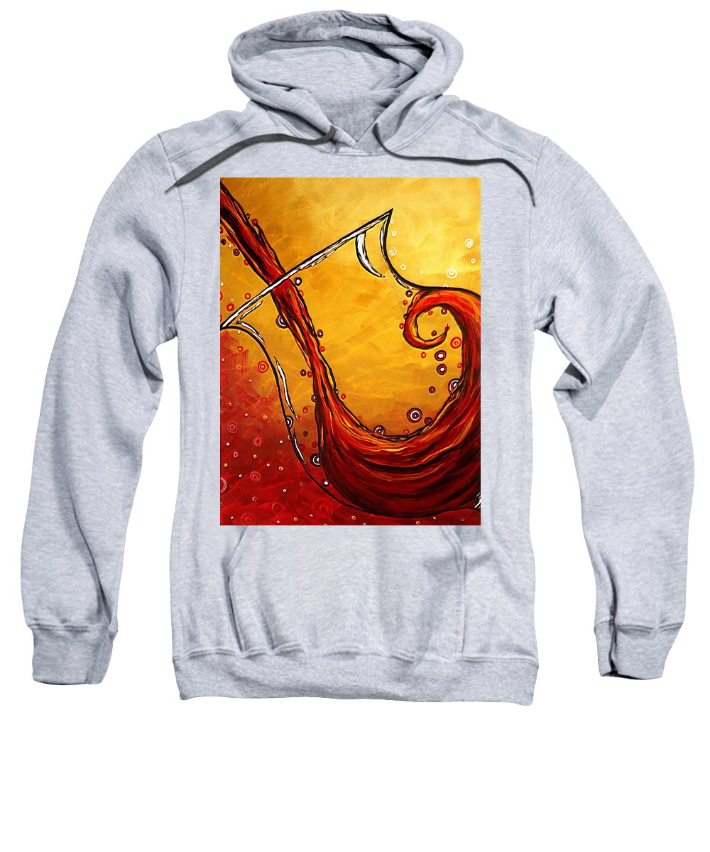 Abstract Sweatshirt featuring the painting Bubbling Joy Original Madart Painting by Megan Duncanson