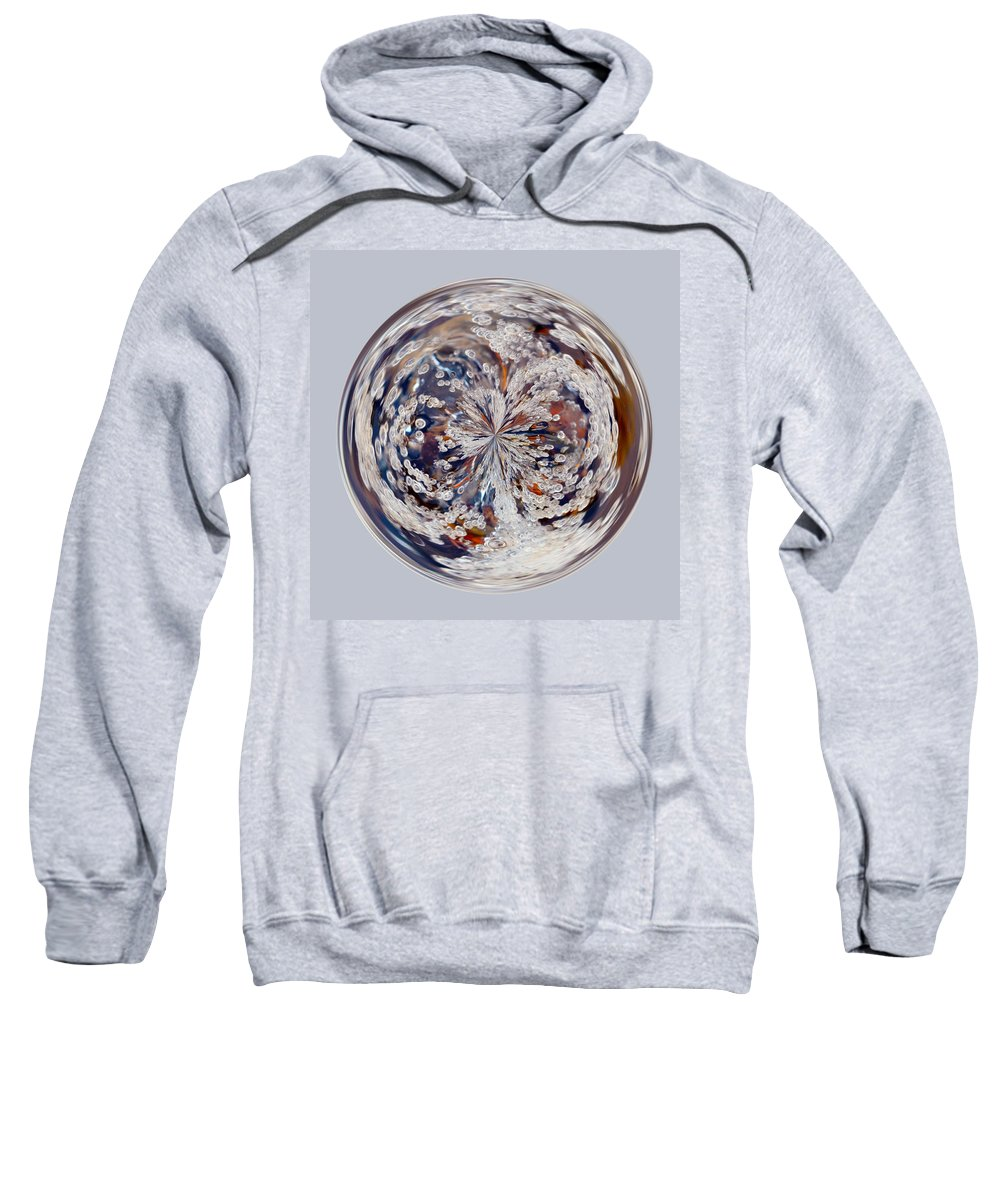 Orb Sweatshirt featuring the photograph Bubbly Orb by Brent Dolliver