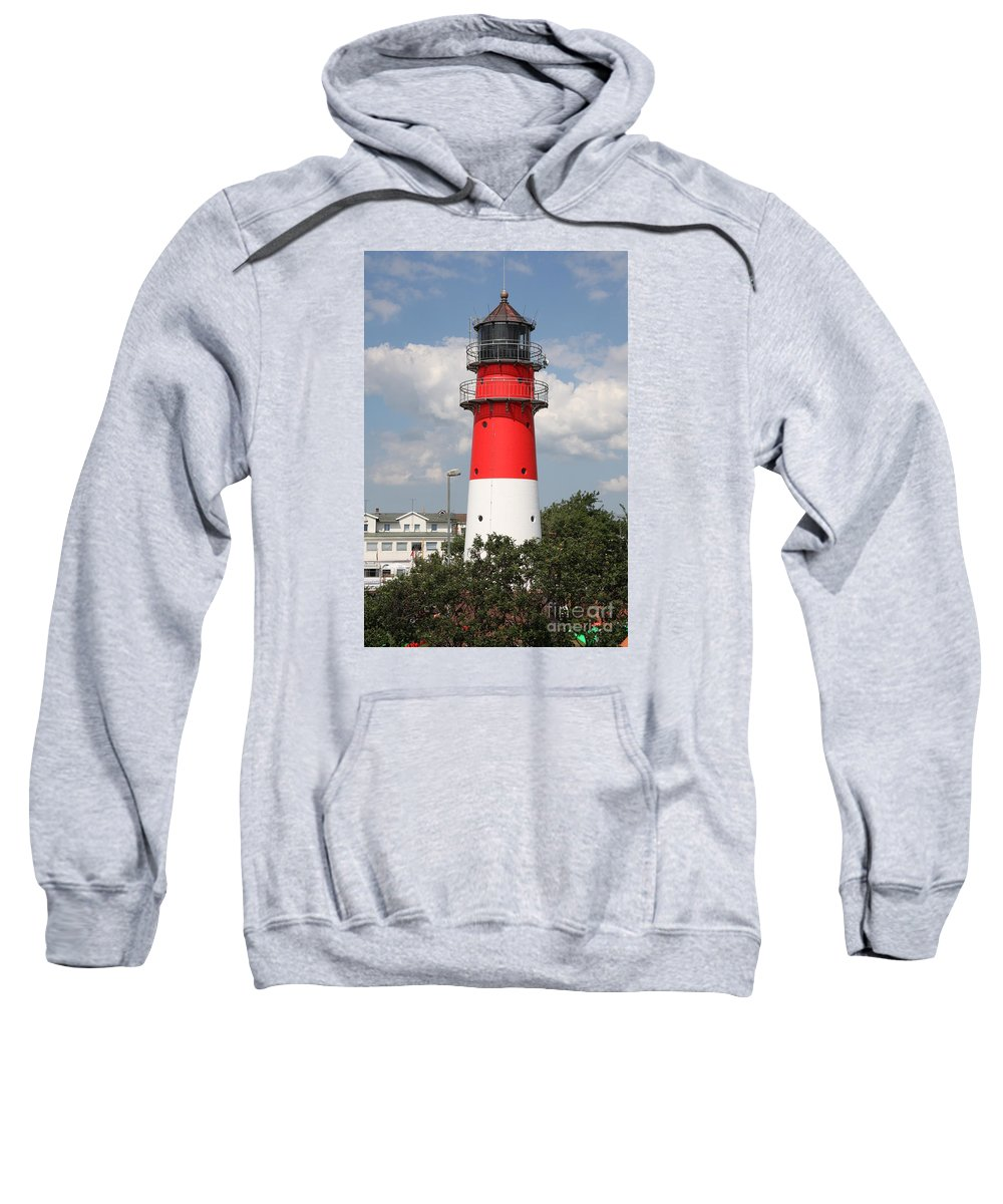 Buesum Sweatshirt featuring the photograph Buesum Lighthouse - North Sea - Germany by Christiane Schulze Art And Photography